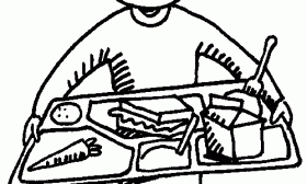 Cafeteria Clipart Black And White - Pencil And In Color Cafeteria in Tray Clipart Black And White - Letters Example